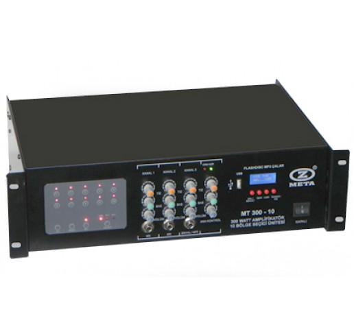 WEST SOUND MT 300-10  Amplifikatör 10 Bölge Seçmeli 300 Watt